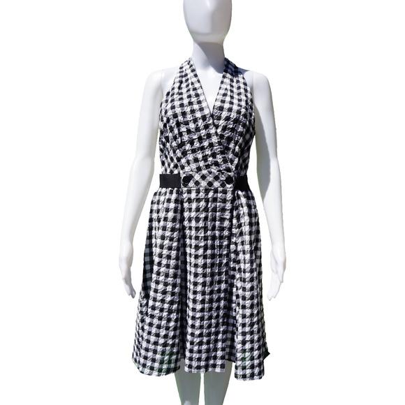 Nanette Lepore Dresses & Skirts - NANETTE LEPORE GINGHAM PRINT SLEEVELESS DRESS